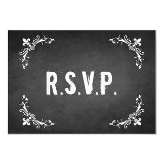 Vintage Chalkboard RSVP Card