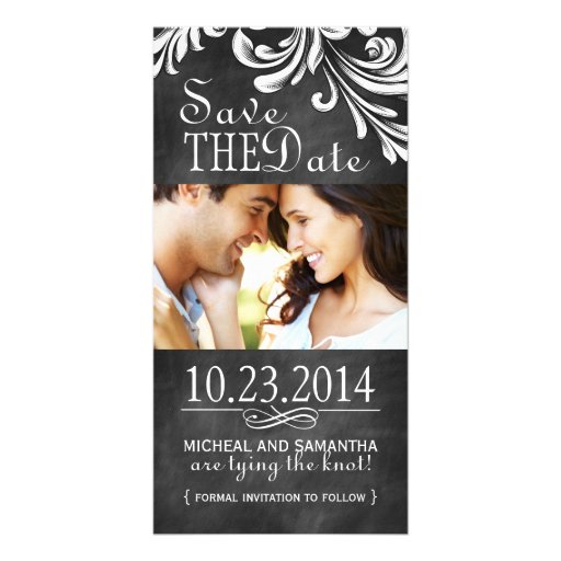 Vintage Chalkboard Save the Date Photo Cards