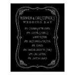 Vintage Chalkboard Wedding Day of Schedule