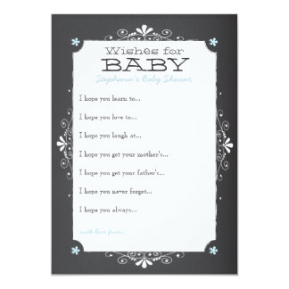 Vintage Chalkboard Wishes for Baby Shower Card