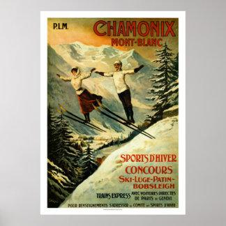 Vintage Chamonix Ski Poster