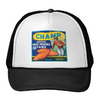 Vintage Champ Brand Sweet Potatoes Ad Cap