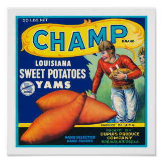 Vintage Champ Sweet Potatoes Poster