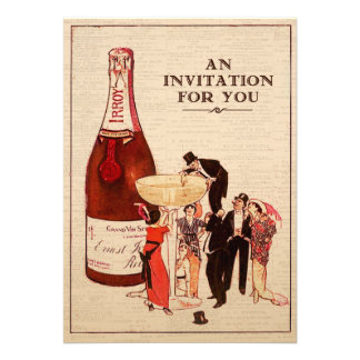 Vintage Champagne Cocktail Party Fun and Formal Cards