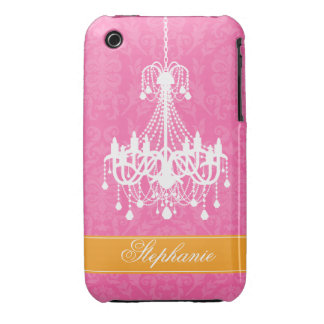 Vintage Chandelier and Damask Pattern Case-Mate iPhone 3 Case