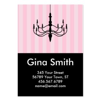 Vintage Chandelier Calling Card (Pink) Business Cards
