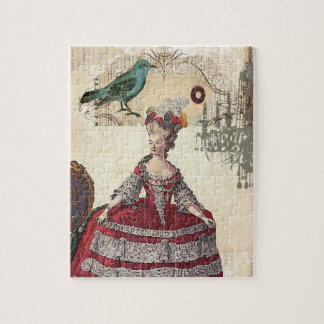 Vintage Chandelier french queen  Marie Antoinette Jigsaw Puzzle