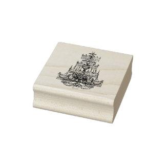 Vintage Chandelier Rubber Stamp