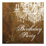 Vintage Chandelier Womans Birthday Party Invites
