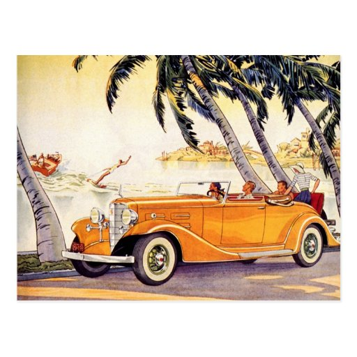 Vintage Change of Address, Convertible Antique Car Postcard