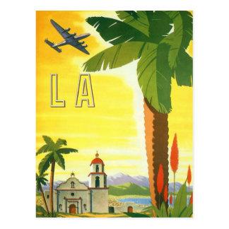 Vintage Change of Address, Los Angeles Mission Postcard
