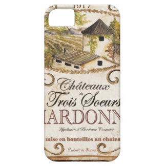 Vintage Chardonnay Label Barely There iPhone 5 Case