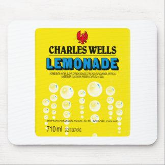 Vintage Charles Wells Lemonade Label Mouse Pad