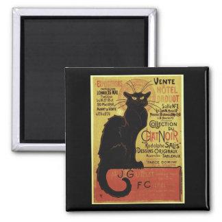 Vintage Chat Noir, Vente Hôtel Drouot Steinlen Fridge Magnet