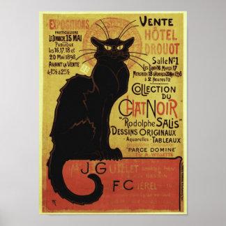 Vintage Chat Noir, Vente Hôtel Drouot Steinlen Posters