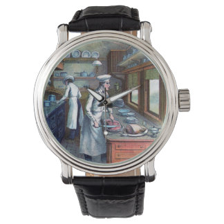 Vintage Chef - Sous-Chef  Illustration Wrist Watch