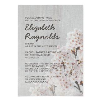 Vintage Cherry Blossom Bridal Shower Invitations