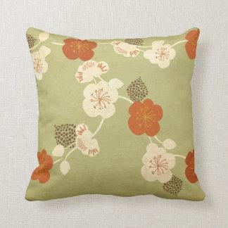 Vintage cherry blossom flowers American MoJo Pillo Throw Cushions