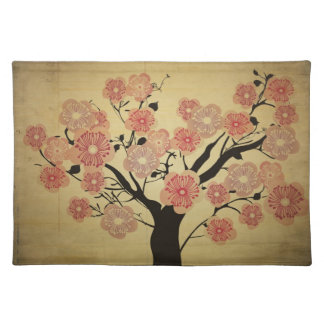 Vintage cherry blossom flowers American MoJo Place Placemats