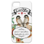 Vintage Cherry Blossom Love Bird Peach Mint iPhone 5 Cases