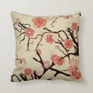 Vintage Cherry blossom tree American MoJo Pillow Cushion
