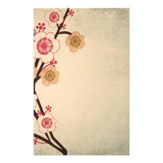 Vintage cherry blossom tree Stationery