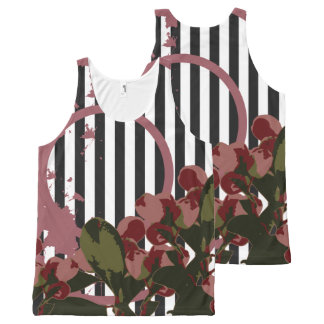 VINTAGE CHERRY Nature Collage All-Over Print Singlet