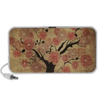 Vintage cherry tree Doodle iPhone Speakers