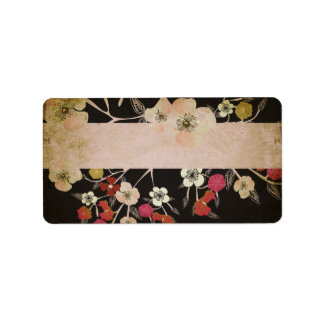 Vintage cherry tree flowers Avery Label