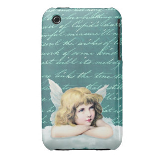 Vintage cherub angel on a cloud Case-Mate iPhone 3 case