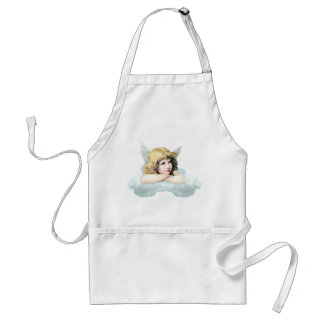 Vintage cherub angel on a cloud standard apron