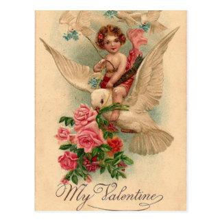 Vintage Cherub My Valentine Postcard