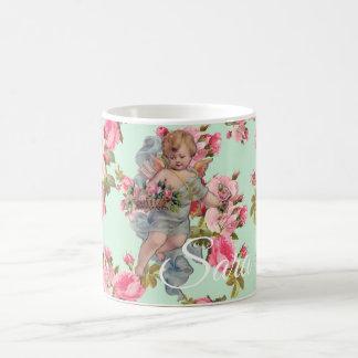 Vintage Cherub Personnalised Mug - Valentine, Love