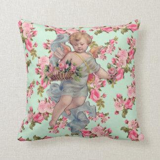 Vintage Cherub & Roses Cushion