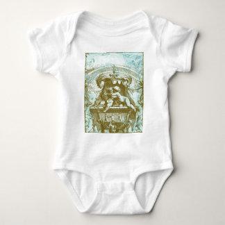 Vintage Cherub Save the Date Design Baby Bodysuit