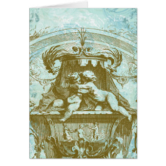 Vintage Cherub Save the Date Design Greeting Card