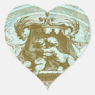 Vintage Cherub Save the Date Design Heart Sticker