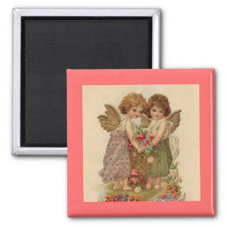 vintage cherub valentine magnet