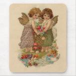 vintage cherub valentine mouse pad