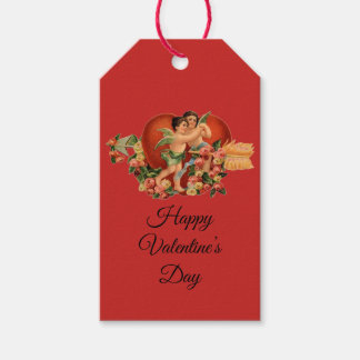 "Vintage Cherubs ""Happy Valentine's Day"" Gift Tags"