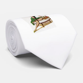 Vintage Chess Pin Up Girl Tie