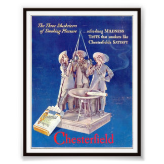 Vintage Chesterfield Cigarette Advertising 1937 Photograph