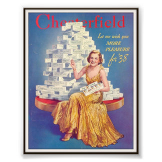 Vintage Chesterfield Cigarette Advertising 1937 Photo Print