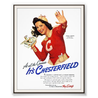 Vintage Chesterfield Cigarette Advertising 1939 Photo Print