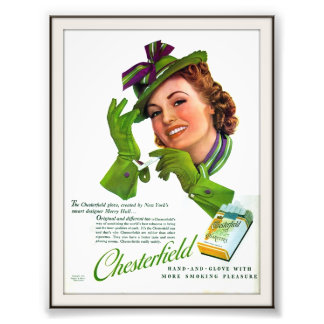 Vintage Chesterfield Cigarette Advertising 1939 Photo