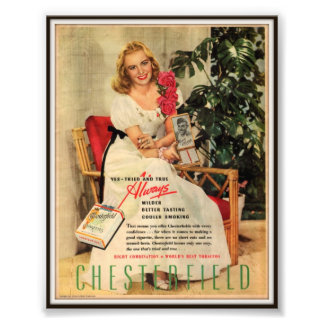Vintage Chesterfield Cigarette Advertising 1945 Photograph