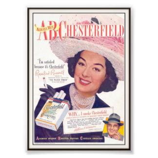 Vintage Chesterfield Cigarette Advertising 1948 Art Photo