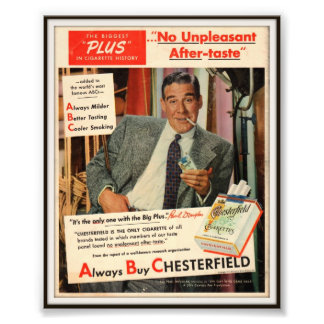 Vintage Chesterfield Cigarette Advertising 1951 Photo Art