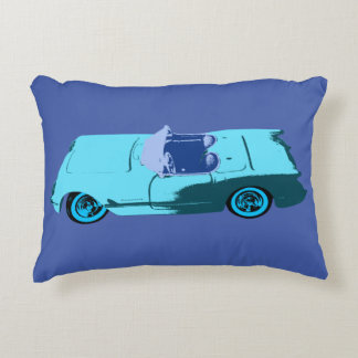 Vintage Chevy in Blues Decorative Cushion