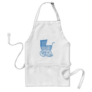 Vintage Chic Blue Baby Carriage Apron